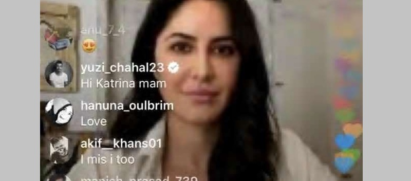 Yuzvendra Chahal crashes live chat of Katrina Kaif on Instagram