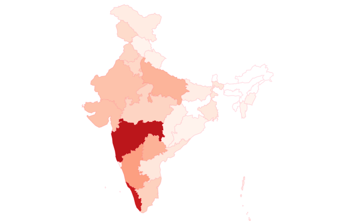 Coronavirus cases in India: State-wise