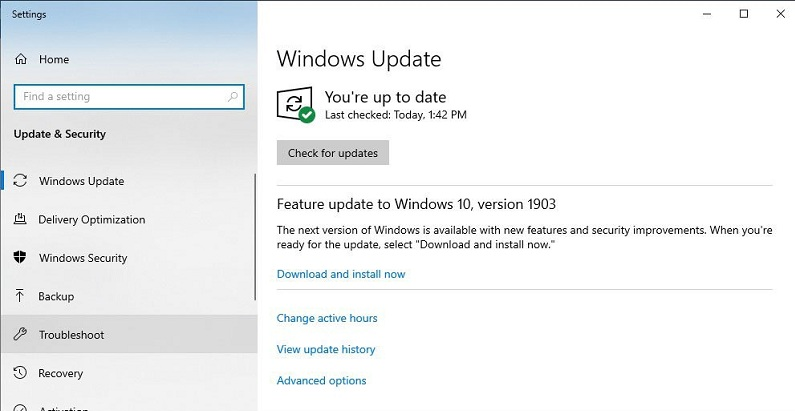 feature update windows10 version 1903